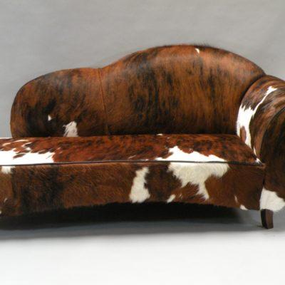 Sofa koeienhuid rood wit