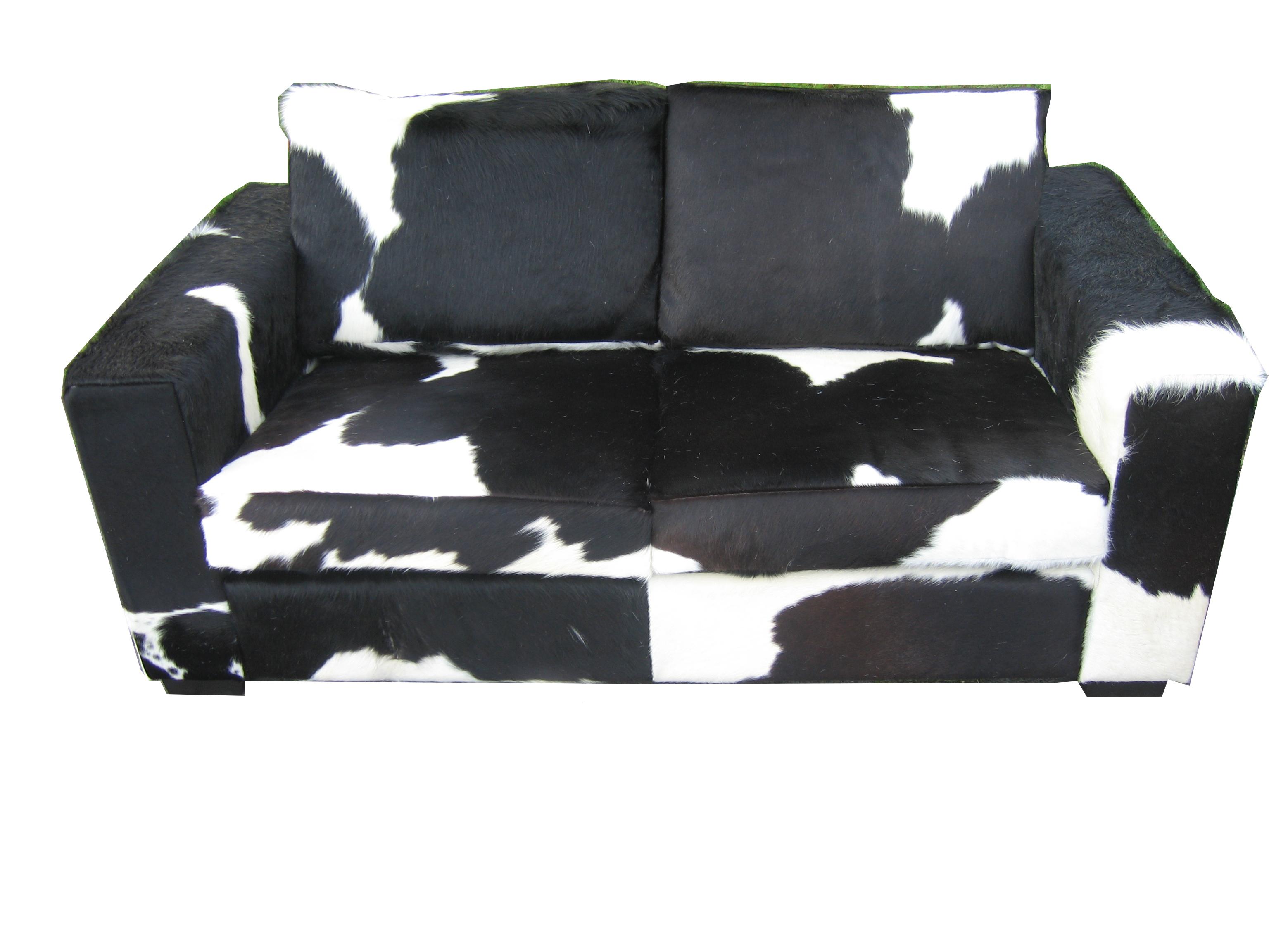 Bank koeienhuid zwart wit