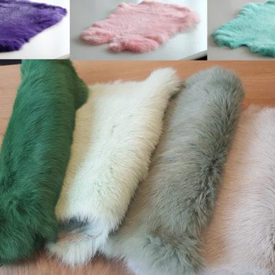Partij konijnenvellen kleur