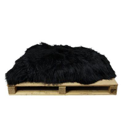 Partij zwarte ijslandse schapenvachten