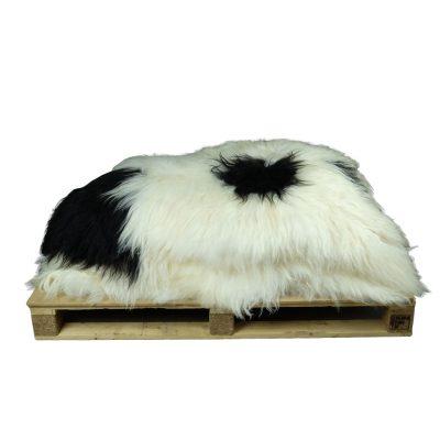Partij ijslandse schapenvachten zwart wit